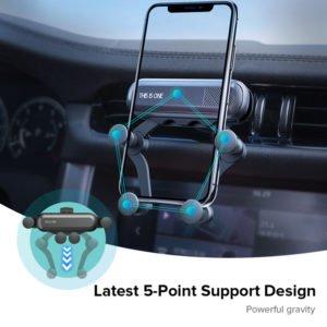 3 INIU Gravity Car Holder For Phone in Car Air Vent Clip Mount No Magnetic Mobile Phone result MangoPanda®